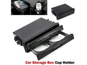 Auto Cup Holder Drink Bottle Stand Double/Single Din Radio Pocket Organizer Universal  Storage Rack  Accessories Mount