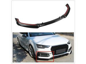 Fiber Look Front Bumper Spoiler Splitter For Audi A4 B9 S4 Sedan 20172018 2019