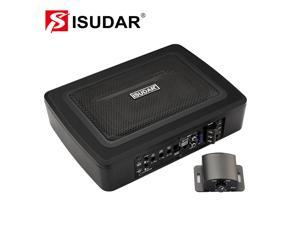 """DP-iot ISUDAR SU6901 Car Subwoofer Amplifier Built-in Power Active High and Lower Level Hifi Auto Audio Bass Seat Slim 150W 6*9"""""""