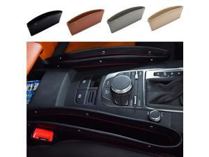 styling  Seat Organizer Slit Gap Pocket Storage Box for Ford Focus Kuga Fiesta Ecosport Mondeo Escape Explorer Edge Musta