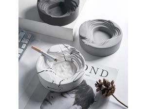 Simple Cement Ashtray Home Office Terraced Castle Ashtrays Living Room Desktop Decoration Handmade Home Cement Ashtray