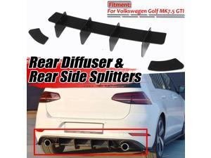 ABS MK7.5 GTI Car Rear Bumper Diffuser & Rear Side Splitters Spoiler Lip Guard For Volkswagen For VW For Golf MK7.5 GTI