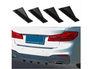 4X Carbon Fiber Style Car Rear Bumper Diffuser Fin Spoiler Lip Wing Splitter Kit Auto Rear Bumper Spoiler With Screw 15*3*5cm