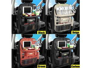 4 Usb charge Tray Table Anti kick Multi Pocket Car Seat Back Organizer Container Hanging Box Multi function Storage Bags
