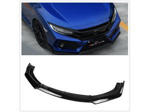 Bumper cover Lip  Spoiler For Honda Civic 2016 2017 2018 Glossy Black