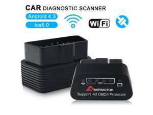 1PC New Arrival ELM327 WiFi V1.5 OBD Car Diagnostics Scanner Code Reader For iPhone iOS Android