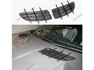 Carbon fiber hood vent scoop fin For Benz 2005 2006 2007 2008 2009 2010 SLK55 SLK350 R171 AMG
