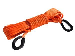 """3/8"""" * 50ft Synthetic Winch Rope Extension,10mm ATV Winch Cable, Synthetic Rope,Towing Rope for Offroad Auto Parts"""
