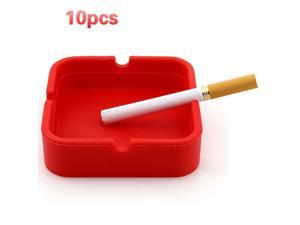 10pcs Smoking Accessories Bendable Flexible Soft Cigar Ash Tray Portable Rubber Silicone Square Weed Ashtrays Cigarette Holder