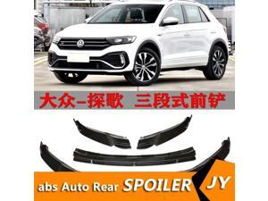 For Volkswagen T-ROC Body kit spoiler 2014-2020 T-ROC ABS Rear lip rear spoiler front Bumper Diffuser Bumpers Protector
