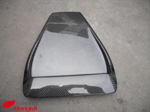 2008-2012 Evolution Evo 10 Evo X Hood Scoop Air Intake Vent OEM Cz4a Style Carbon Fiber