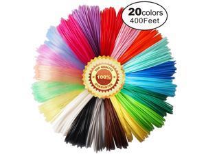 3D Pen PLA Filament Refills, 20 Colors, 20 Feet Each Color, Total 400 Feet by , Not Fit for 3Doodler Pen