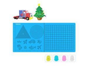 3D Printing Pen Mat, Foldable Design 3D Drawing Pad Silicone Template with 4 Finger Protectors, Best Tools for 3Doodler/MIKA3D