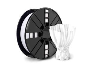 3D Printer Filament - White 1.75mm PETG Filament, PETG 1kg(2.2lbs), Dimensional Accuracy +/- 0.03mm