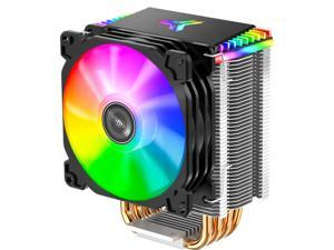 LEAVAN RGB High Performance CPU Cooler, Four 6mm Heat Pipes, 9cm PWM Color Silent Fan, Suitable for Intel / Amd Ryzen
