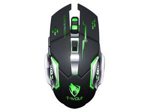 LEAVAN Wireless Bluetooth Gaming Mice, 3 DPI High Performance,1 Wheel Usb 2.0/2.4GHZ Mouse, 6 Buttons for Windows 7/8/10/xp (black)