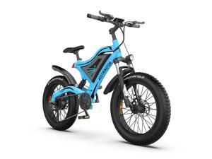 """AOSTIRMOTOR Electric Mountain Bike 26"""" 4.0 inch Fat Tire Ebike, 750W motor, 48V 15AH Removable Lithium Battery, Electric Bicycle for Adults (Blue)"""