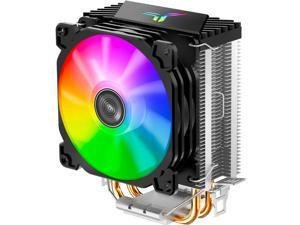 Cooler CPU/90mm PWM Color Fan,CPU Air Cooler/Two 6mm Copper Heat Pipes/Suitable for Intel / AMD Cooler / Motherboard 5v(Black)
