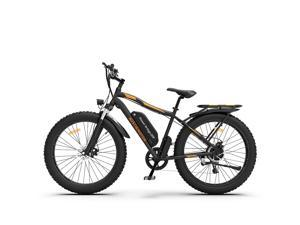 """AOSTIRMOTOR 26"""" 750W Electric Bike Fat Tire P7 48V 13AH Removable Lithium Battery for Adults with Detachable Rear Rack Fender(Black)S07-B"""