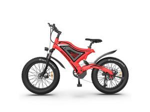 """AOSTIRMOTOR Electric Mountain Bike 26"""" 4.0 inch Fat Tire Ebike, 750W motor, 48V 15AH Removable Lithium Battery, Electric Bicycle for Adults (Red)"""