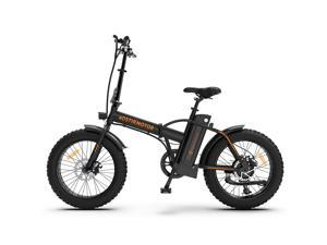 """AOSTIRMOTOR Foldable Electric Bike, 20"""" 4.0 Inch Electric Bike, 500W Motor, 36V 13AH Removable Lithium Battery, Electric Bicycle for Adults,A20-Black"""