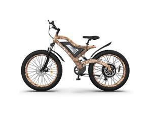 """AOSTIRMOTOR 1500W 26"""" Fat Tire Electric Bike, PAS Intelligent Pedal Aluminum Alloy Electric Mountain Bike , 7-Speed Shimano Gears Ebike, 48V 15Ah Removable Lithium Battery, S18-1500W"""