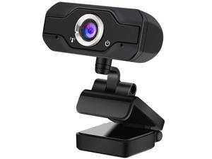 1080P Webcam with Microphone - easyday 110-degree Wide Angle Widescreen USB HD Camera, Laptop Computer Web Cam for YouTube Skype FaceTime OBS