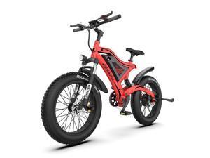 AOSTIRMOTOR Mini Electric Bicycle S18-MINI-Red