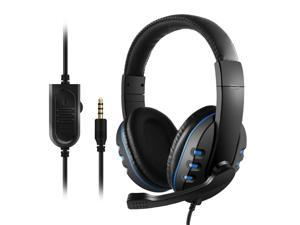 3.5mm Wired Gaming Headphones Over Ear Game Headset Noise Canceling Earphone with Microphone Volume Control for PC Laptop Smart Phone