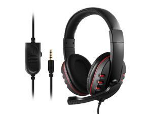 3.5mm Wired Gaming Headphones Over-Ear Game Headset Earphone with Microphone Volume Control for PC Laptop Smart Phone