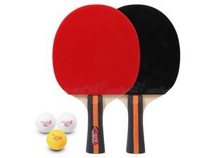 Table Tennis 2 Player Set 2 Table Tennis Bats Rackets and 3 Ping Pong Balls with Cover Bag