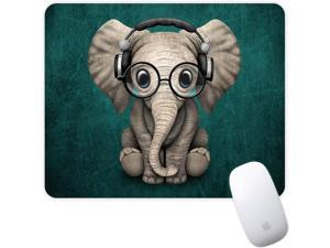 Mouse Pad Green Pattern Headset Music Panda Mousepad Non-Slip Rubber Gaming Mouse Pad Rectangle Mouse Pads for Computers Laptop