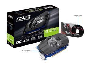 1252 MHz (Gaming Mode) GeForce GT 1030 2GB Phoenix Fan OC Edition HDMI DVI Core Clock 1278 MHz (OC Mode) Graphics Card (PH-GT1030-O2G)