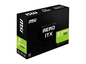 2GB 64-Bit GDDR5 MSI-GT1030 AERO ITX 2GD4 OCV1 MSI GeForce GT 1030 DirectX 12 GT 1030 AERO ITX 2G OC 2GB 64-Bit GDDR5 PCI Express 3.0 x16 (uses x4) HDCP Ready ATX Video Card