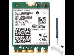 Dual Band Intel AX210 wifi Card Wi-Fi 6E AX210NGW M.2 2230 160MHz 2x2 MU-MIMO AX210 Wifi Bluetooth 5.2 card Wireless Network 802.11ax Adapter for Windows 10