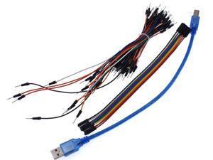 Lejiahong Starter Kit for arduino Uno R3 - Uno R3 Breadboard and holder Step Motor / Servo /1602 LCD / jumper Wire/ UNO R3 with retail box