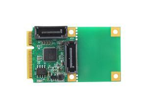 Lejiahong Mini Pcie to SATA 3.0 Extender 6Gpbs Supports 2-Port Hot-Swappable System Disk