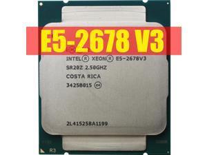 Lejiahong for intel Xeon Processor E5 2678 V3 CPU 2.5G Serve CPU LGA 2011-3 e5-2678 V3 2678V3 PC Desktop processor CPU For X99 motherboard