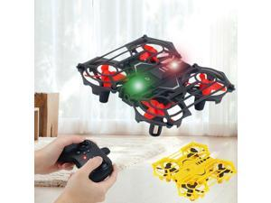 Upgraded 2 in 1 Hand Operated Drones & Remote Control Mini Drone for Kids Gifts, Funkprofi RC Pocket Quadcopter with Altitude Hold, Headless Mode, 3D Flip, Speed Adjustment