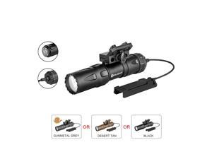 OLIGHT Odin Mini Max 1250 Lumens 240 Meters Beam Distance Tail Switch Mount Tactical Flashlight MCC3 Magnetic Charging Cable Powered By Rechargeable Lithium Battery