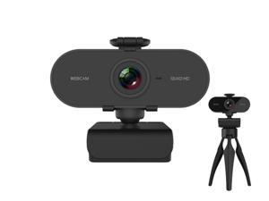 2K Webcam with Microphone & Privacy Cover, Web Cam USB Camera, Computer HD Streaming Webcam for PC Desktop & Laptop w/ Mic, Wide Angle Lens & Large Sensor,WC33