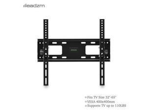 "32-65"" Flat Tilting TV Wall Mount with Spirit Level Load Bearing 50kg / Maximum Vesa400 * 400 / Downward 10 °,TM15"