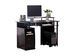 Home Office Computer Desk Gaming Desk Home Office Desk Computer Desk Study Workstation Furniture Table with Keyboard Tray and Drawers ,Black,GT39