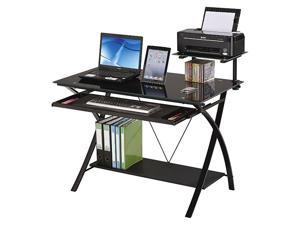 Home Office Computer Desk Multi-function Desk Computer Table Workstation Rack with Printer,Can Store Keyboard and Host,Multi Layer Metal Desk,GT96