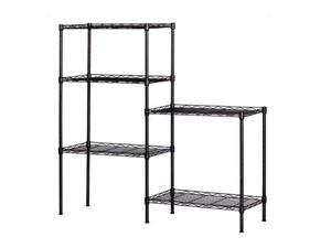 Layer Shelf Changeable Assembly Floor Standing Carbon Steel Storage Rack Changeable Metal Combination Rack, Storage Rack, Kitchen Arrangement Rack, Floor Storage Rack, Microwave Oven Rack,LS02