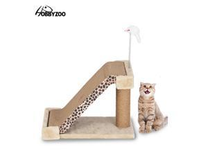 Cat Climbing Tree Cat Scratch Board Two-in-One Cat Scratching Post Leopard Mark with Catnip Kitten Play Kitten Activity Center,DS25