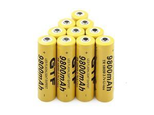 Lithium Ion Rechargeable Battery Cell for Lithium Ion 18650   Battery 3.7V 9800Mah Rechargeable Battery for Led Flashlight Emergency Lighting Portable Devices Tools, 10 Pcs, AB13
