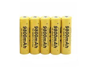 Lithium Ion Rechargeable Battery Cell for Lithium Ion 18650   Battery 3.7V 9800Mah Rechargeable Battery for Led Flashlight Emergency Lighting Portable Devices Tools, 5 Pcs, AB12