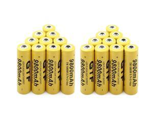 Lithium Ion Rechargeable Battery Cell for Lithium Ion 18650   Battery 3.7V 9800Mah Rechargeable Battery for Led Flashlight Emergency Lighting Portable Devices Tools, 20 Pcs, AB14
