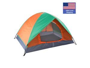 Camping Tent for 2 Person, Family Dome Waterproof Backpacking Double Door Camping Tent Easy Setup, Great for Hiking and Mountaineering, BT03
